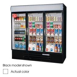 Beverage Air - MMR72HC-1-W - 72 cu ft White 3 Door MarketMax Merchandiser Fridge image