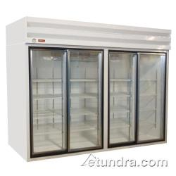 Howard McCray - GSR102 - 102 cu ft Top Mount Refrigerated Merchandiser w/4 Sliding Doors image