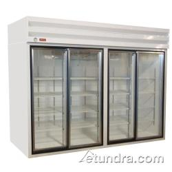 Howard McCray - GSR102BM - 102 cu ft Bottom Mount Refrigerated Merchandiser w/4 Sliding Doors image