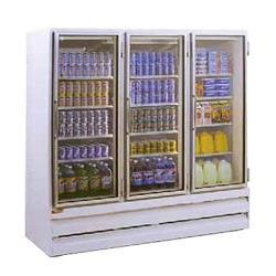 Howard McCray - GSR75BM - 75 cu ft Bottom Mount Refrigerated Merchandiser w/3 Sliding Doors image