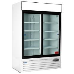 Nor-Lake - NLGR48S-B - 48 cu/ft Refrigerated Merchandiser w/ 2 Sliding Doors image