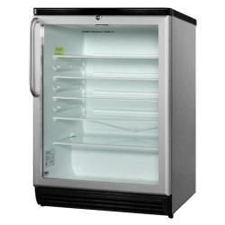 Summit - SCR600L - White AccuCold Glass Door Refrigerator image