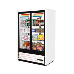 True - GDM-33-HC-LD - 33 cu ft Refrigerated Merchandiser w/ 2 Sliding Doors image
