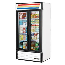 True - GDM-35-HC-LD - 35 cu ft Refrigerated Merchandiser w/ 2 Swing Doors image