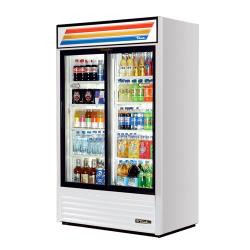 True - GDM-41-HC-LD - 41 cu ft Refrigerated Merchandiser w/ 2 Sliding Doors image