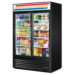True - GDM-45-HC-LD - 45 cu ft Refrigerated Merchandiser w/ 2 Sliding Doors image