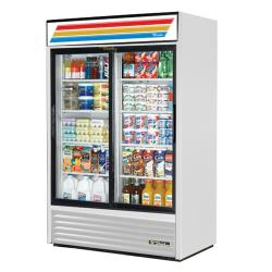True - GDM-45-LD - 45 cu ft Refrigerated Merchandiser w/ 2 Sliding Doors image