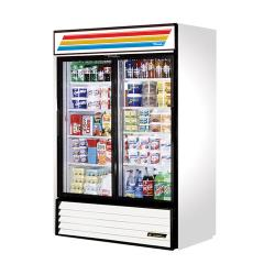 True - GDM-47-LD - 47 cu ft Refrigerated Merchandiser w/ 2 Sliding Doors image