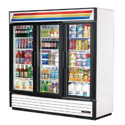 True - GDM-72-HC-LD - 72 cu ft Refrigerated Merchandiser w/ 3 Swing Doors image