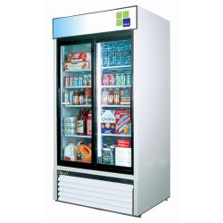 Turbo Air - TGM-35R - 35 cu/ft Refrigerated Merchandiser w/ 2 Sliding Doors image