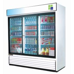 Turbo Air - TGM-69R - 69 cu/ft Refrigerated Merchandiser w/ 3 Sliding Doors image