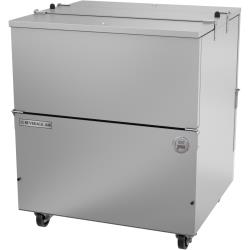 Beverage Air - ST34HC-S - 34 in Stainless Steel Dual Access Milk Cooler image