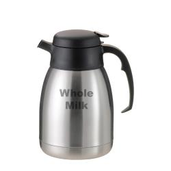 Service Ideas - FVP20WHOLEET - 2L Etched Whole Milk Beverage Server Carafe image