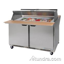 Beverage Air - SPE48-18M-DS - 48 in Dual Sided Mega Top Sandwich Prep Table image