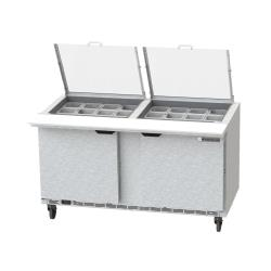 Beverage Air - SPE60HC-24M-CL - 60 in Clear Lid Mega Top Sandwich Prep Table image