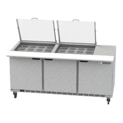 Beverage Air - SPE72HC-24M-CL - 72 in Clear Lid Mega Top Sandwich Prep Table image