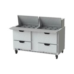 Beverage Air - SPED60HC-24M-4 - 60 in 4 Drawer Mega Top Prep Table image