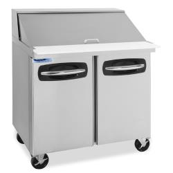 Nor-Lake - NLSMP36-15A - 36 in 2 Door AdvantEDGE™ Mega Top Prep Table image