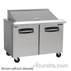 Nor-Lake - NLSMP48-18-002 - AdvantEDGE 2 Drawer 48 in Mega Top Prep Table w/Left Door image