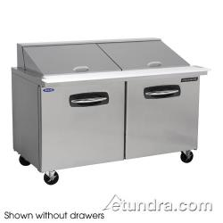 Nor-Lake - NLSMP60-24-002 - AdvantEDGE 2 Drawer 60 in Mega Top Prep Table w/Left Door image