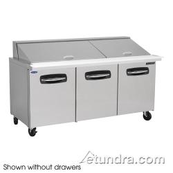 Nor-Lake - NLSMP72-30-002 - AdvantEDGE 2 Drawer 72 in Mega Top Prep Table w/Left & Center Doors image
