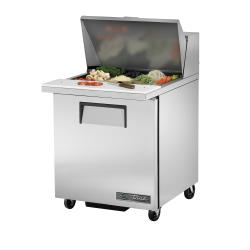 True - TSSU-27-12M-B-HC - 28 in Mega Top 1-Door Sandwich Prep Table image