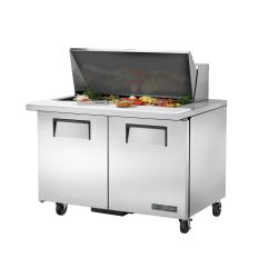 True - TSSU-48-18M-B-HC - 48 in Mega Top 2-Door Sandwich Prep Table image