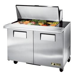 "True - TSSU-48-18M-B - Mega Top 2 Door 48"" Sandwich Prep Table image"