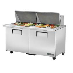 True - TSSU-60-24M-B-ST-HC - 60 in Mega Top 2-Door Sandwich Prep Table image