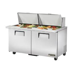 "True - TSSU-60-24M-B-ST - Mega Top 2 Door 60"" Sandwich Prep Table image"