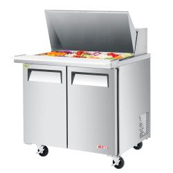 Turbo Air - EST-36-15-N6 - 36 in 2-Door E-Line Mega Top Sandwich Prep Table image