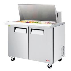 Turbo Air - EST-48-18-N - 48 in 2-Door E-Line Mega Top Sandwich Prep Table image