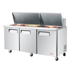 Turbo Air - EST-72-30-N - 72 in 3-Door E-Line Mega Top Sandwich Prep Table image