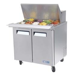 Turbo Air - MST-36-15 - M3 Series Mega Top 2 Door 36 in Sandwich Prep Table image