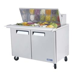 Turbo Air - MST-48-18 - M3 Series Mega Top 2 Door 48 in Sandwich Prep Table image