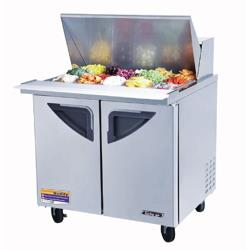 "Turbo Air - TST-36SD-15 - Super Deluxe 2 Door 36"" Mega Top Sandwich Prep Table image"
