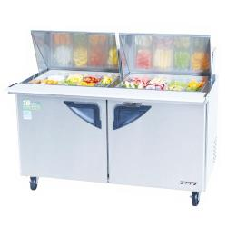 Turbo Air - TST-60SD-24 - Super Deluxe 2 Door 60 in  Mega Top Sandwich Prep Table image