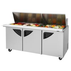 Turbo Air - TST-72SD-30-N - Super Deluxe 3-Door Mega Top Sandwich Prep Table image