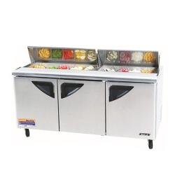 Turbo Air - TST-72SD-30 - Super Deluxe 3 Door Mega Top Sandwich Prep Table image