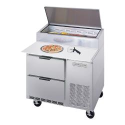 Beverage Air - DPD46-2 - 46 in S/S 2 Drawer Pizza Prep Table image