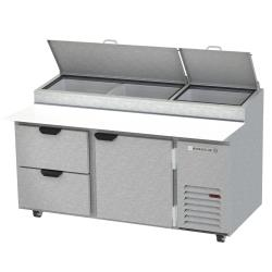 Beverage Air - DPD67HC-2 - 67 in 1 Door 2 Drawer Pizza Prep Table image