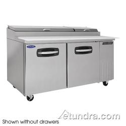 Nor-Lake - NLPT67-002 - AdvantEDGE 2 Drawer 67 in Pizza Prep Table w/Left Door image