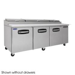Nor-Lake - NLPT93-007 - AdvantEDGE 4 Drawer 93 in Pizza Prep Table w/Right Door image