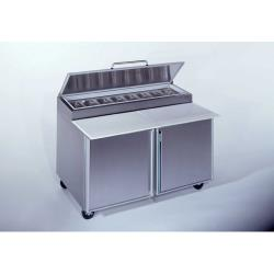 Silver King - SKPZ60/C10 - 2 Door Refrigerated Pizza Prep Table image