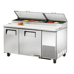 True - TPP-AT-60 - 60 in 2-Door Pizza Prep Table image