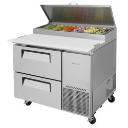 Turbo Air - TPR-44SD-D2-N - 44 in 2-Drawer Pizza Prep Table image