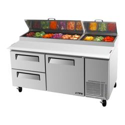 Turbo Air - TPR-67SD-D2 - 67 in 2 Drawer Pizza Prep Table image