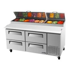 Turbo Air - TPR-67SD-D4 - 67 in 4 Drawer Pizza Prep Table image
