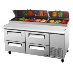 Turbo Air - TPR-67SD-D4-N - 67 in 4-Drawer Pizza Prep Table image