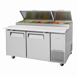 Turbo Air - TPR-67SD-N - Super Deluxe 2-Door Pizza Prep Table image